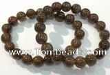 CGB4096 7.5 inches 11mm round rutilated quartz beaded bracelets