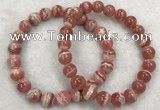 CGB4129 7.5 inches 8.5mm - 9mm round rhodochrosite beaded bracelets