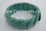 CGB418 7.5 inches 24*25mm turquoise gemstone bracelet
