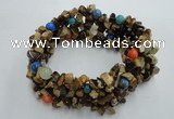 CGB426 7 inches 4*7mm chips & round mixed gemstone bracelet
