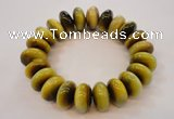 CGB451 8.5 inches 10*19mm rondelle yellow tiger eye gemstone bracelet whole