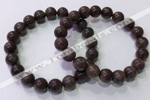 CGB4529 7.5 inches 10mm round moonstone beaded bracelets