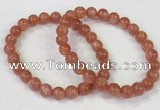 CGB4533 7.5 inches 8mm round golden sunstone beaded bracelets