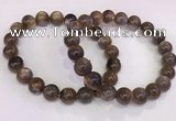 CGB4570 7.5 inches 10mm round black sunstone beaded bracelets