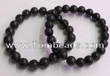 CGB4577 7.5 inches 10mm round black sunstone beaded bracelets