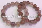CGB4640 13mm - 14mm round red rutilated quartz beaded bracelets