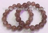 CGB4643 12mm - 13mm round red rutilated quartz beaded bracelets