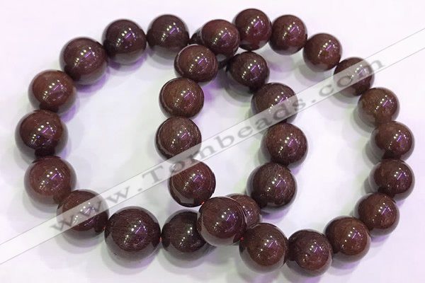 CGB4649 14mm - 15mm round red rutilated quartz beaded bracelets