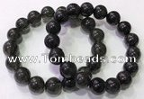 CGB4654 12mm round black rutilated quartz beaded bracelets