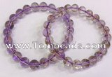 CGB4661 8mm - 9mm round purple phantom quartz beaded bracelets