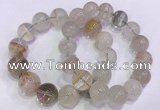 CGB4675 15mm - 16mm round green phantom quartz beaded bracelets