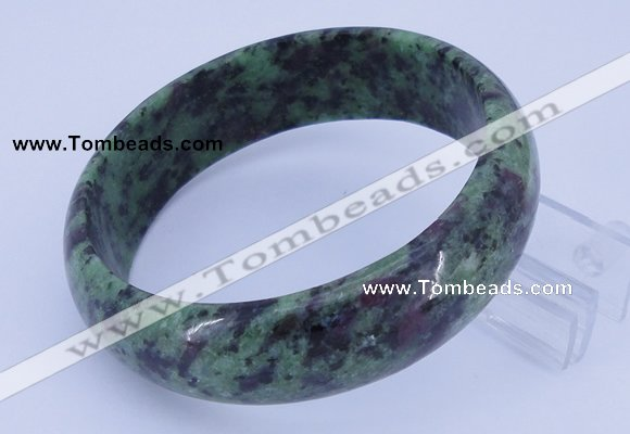 CGB481 Inner diameter 62mm fashion natural ruby zoisite gemstone bangle