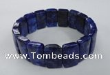CGB506 8 inches 12*20mm rectangle lapis lazuli gemstone bracelet