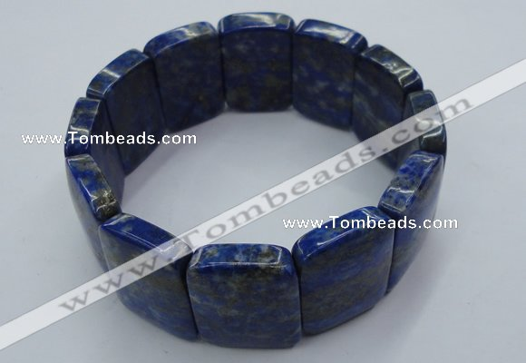 CGB512 8.5 inches 18*25mm rectangle natural lapis lazuli bracelet