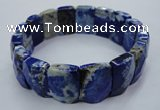 CGB516 8 inches 13*18mm faceted rectangle natural lapis lazuli bracelet
