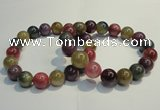 CGB651 7.5 inches 10.5mm - 11mm round natural ruby sapphire bracelet