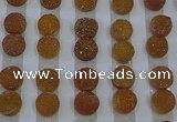 CGC101 12mm flat round druzy quartz cabochons wholesale