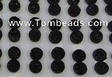 CGC102 12mm flat round druzy quartz cabochons wholesale