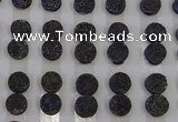 CGC110 12mm flat round druzy quartz cabochons wholesale