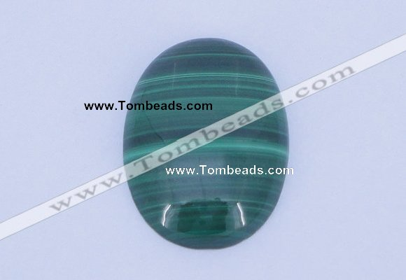 CGC12 2PCS 18*25mm oval natural malachite gemstone cabochons