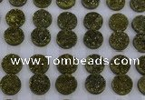 CGC121 16mm flat round druzy quartz cabochons wholesale