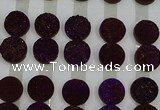 CGC133 18mm flat round druzy quartz cabochons wholesale