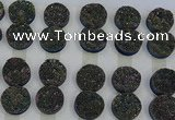 CGC134 18mm flat round druzy quartz cabochons wholesale