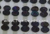 CGC186 13*18mm oval druzy quartz cabochons wholesale