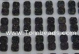 CGC228 12*12mm square druzy quartz cabochons wholesale