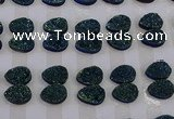 CGC269 15*20mm flat teardrop druzy quartz cabochons wholesale