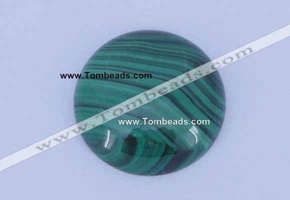 CGC28 28mm flat round natural malachite gemstone cabochons