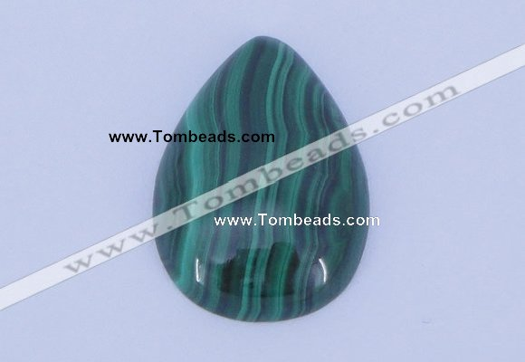 CGC32 2pcs 18*25mm flat teardrop natural malachite gemstone cabochons