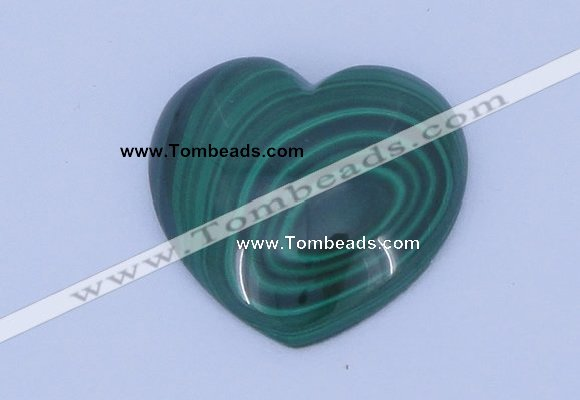 CGC38 25*25mm heart natural malachite gemstone cabochons