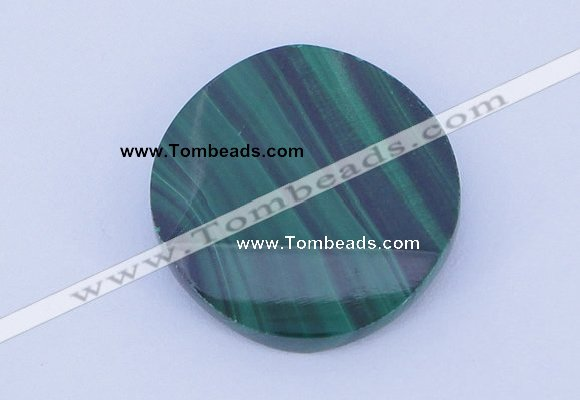 CGC41 25mm faceted coin natural malachite gemstone cabochons