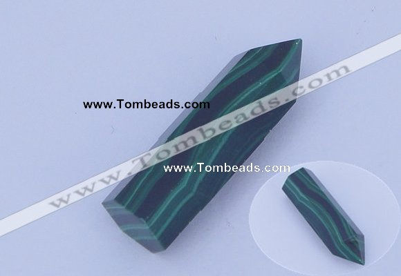 CGC43 10*30mm faceted column natural malachite gemstone cabochons
