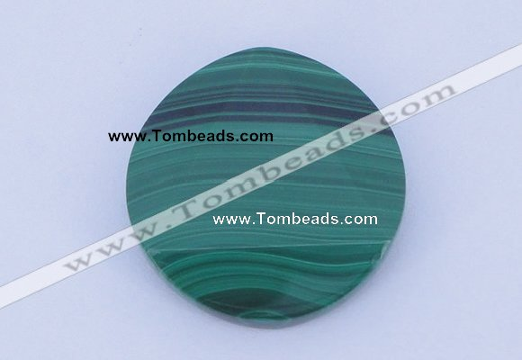 CGC44 24mm faceted coin natural malachite gemstone cabochons