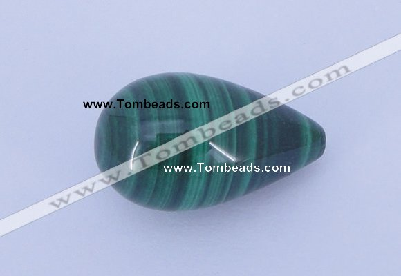 CGC45 13*22mm teardrop natural malachite gemstone cabochons