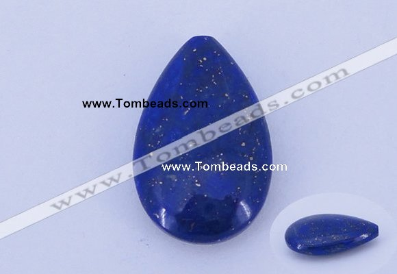 CGC46 14*22mm flat teardrop natural lapis lazuli gemstone cabochons