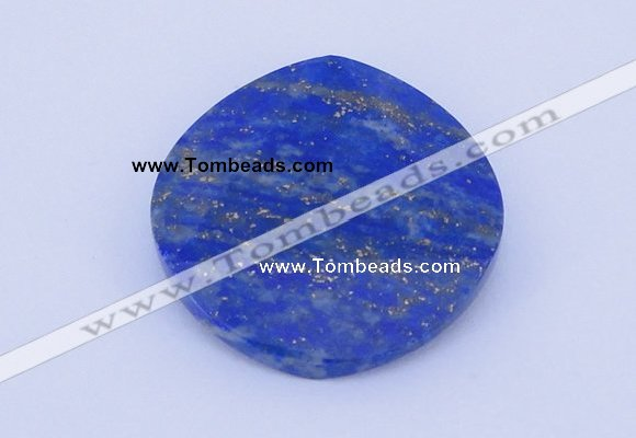 CGC51 6*28mm faceted coin natural lapis lazuli gemstone cabochons