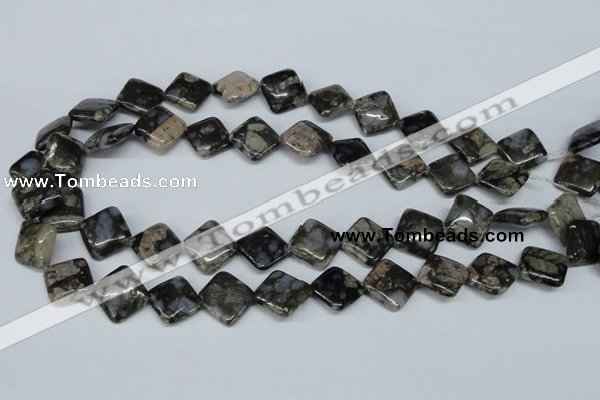 CGE01 15.5 inches 14*14mm diamond glaucophane gemstone beads