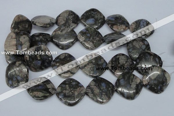 CGE02 15.5 inches 30*30mm diamond glaucophane gemstone beads