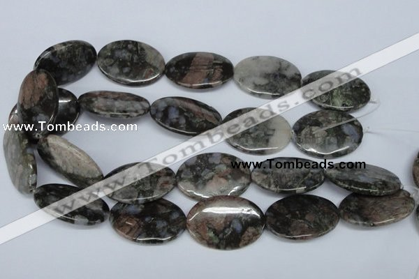 CGE09 15.5 inches 25*35mm oval glaucophane gemstone beads