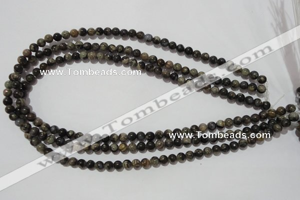 CGE101 15.5 inches 6mm round glaucophane gemstone beads