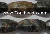 CGE118 15.5 inches 16*30mm rice glaucophane gemstone beads