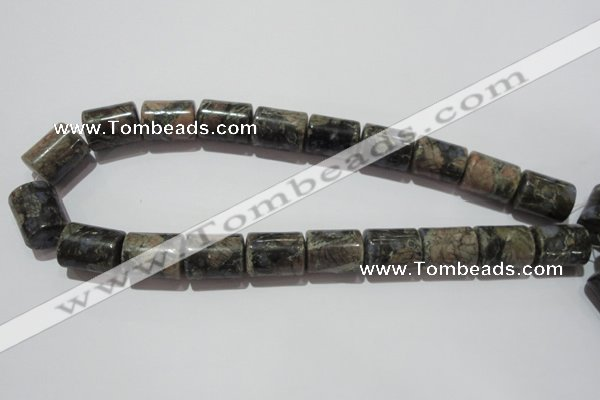 CGE120 15.5 inches 15*20mm tube glaucophane gemstone beads