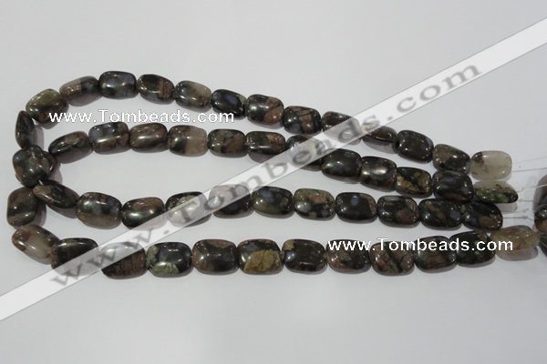 CGE159 15.5 inches 12*16mm rectangle glaucophane gemstone beads