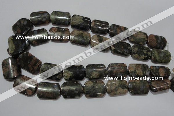 CGE165 15.5 inches 18*25mm rectangle glaucophane gemstone beads