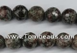 CGG04 15.5 inches 12mm faceted round ghost gemstone beads wholesale