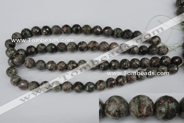 CGG05 15.5 inches 14mm faceted round ghost gemstone beads wholesale