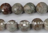 CGG16 15.5 inches 14mm faceted round ghost gemstone beads wholesale